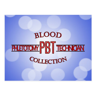SPECIALIST PBT PHLEBOTOMY TECH BLOOD COLLECTION POSTCARD