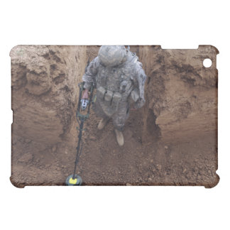 Specialist searches for a weapons cache iPad mini case