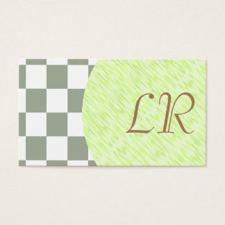 Specialist/ U-pick Color White Checkered Tiles Business Card