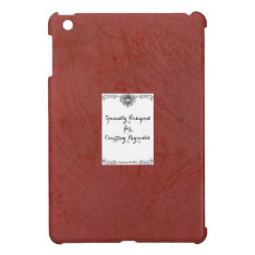 Specially Designed Tuscan Red Plaster 2.0 Ipad Mini Cover at Zazzle