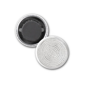 Specialty Item: silver medallion design magnet