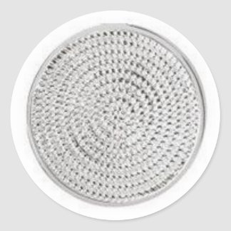 Specialty Items: silver medallion Classic Round Sticker