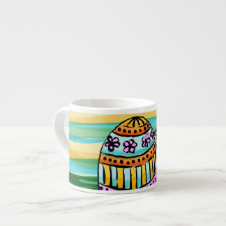 Specialty Mug 3 Sizes, Painted Easter Eggs 6 Oz Ceramic Espresso Cup
