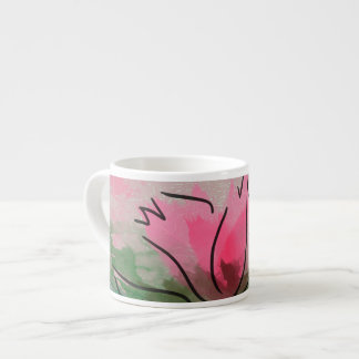 Specialty Mug 3 Sizes, Pink Flower Painting