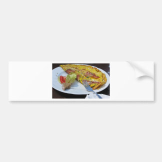 Speck and cheese omelet car bumper sticker