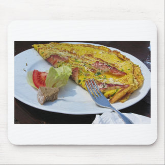 Speck and cheese omelet mouse pad