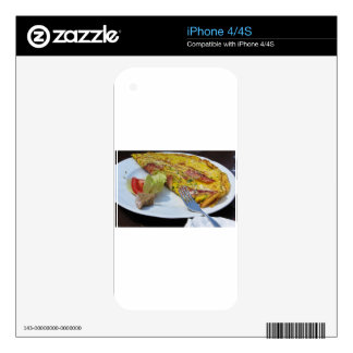 Speck and cheese omelet decals for iPhone 4