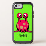 SPECK CASE: HAPPY MONSTER TECH WITH NAME SPECK iPhone CASE