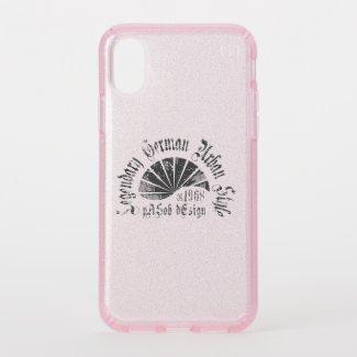 Speck Presidio Clear + Pink Glitter iPhone X Case