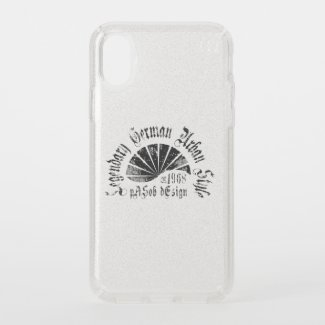 Speck Presidio Clear + Silver Glitter iPhone X Cas Speck iPhone X Case