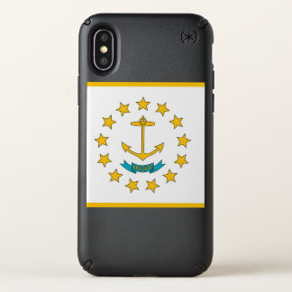 Speck Presidio iPhone X Case flag of Rhode Island