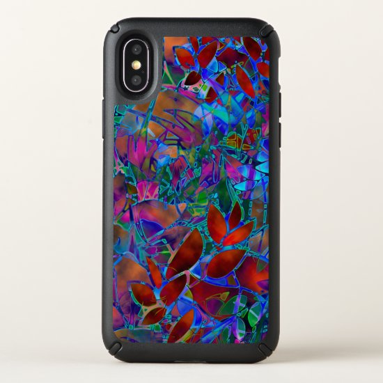 Speck Presidio iPhone X Case  Floral Abstract