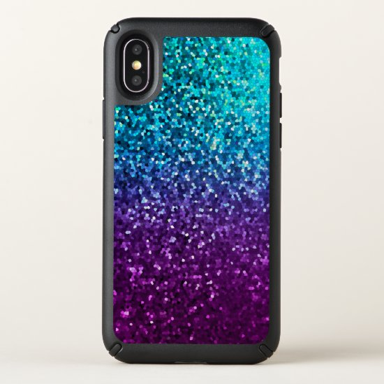 Speck Presidio iPhone X Case  Mosaic Sparkley