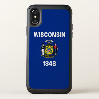 Speck Presidio iPhone X Case Wisconsin State flag