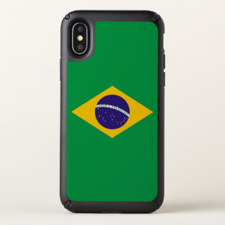 Speck Presidio iPhone X Case with Brazil flag