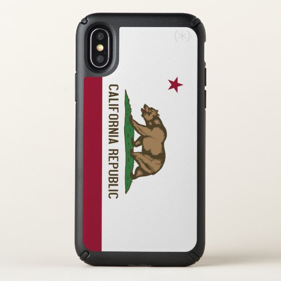 Speck Presidio iPhone X Case with California flag