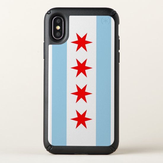 Speck Presidio iPhone X Case with Chicago flag