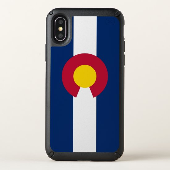 Speck Presidio iPhone X Case with Colorado flag