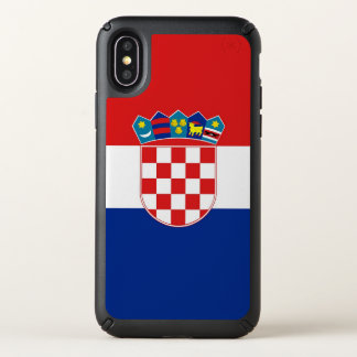 Speck Presidio iPhone X Case with Croatia flag