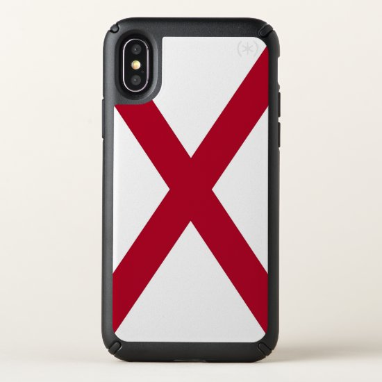 Speck Presidio iPhone X Case with flag of Alabama