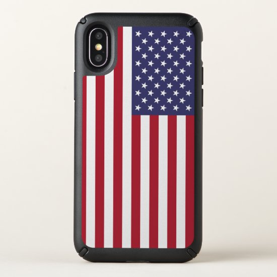 Speck Presidio iPhone X Case with flag of USA