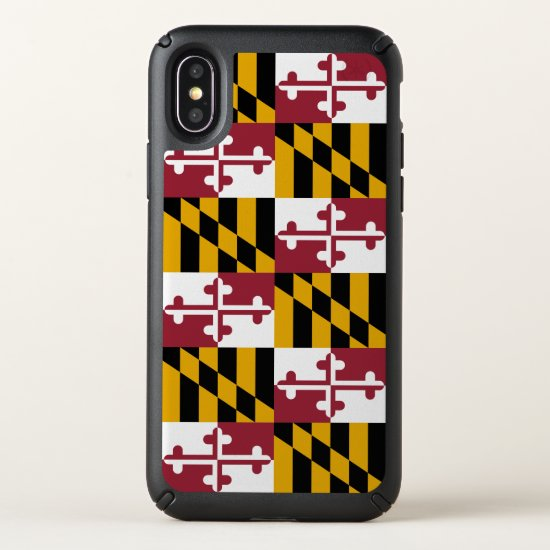 Speck Presidio iPhone X Case with Maryland flag