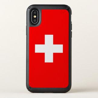 Speck Presidio iPhone X Case with Switzerland flag