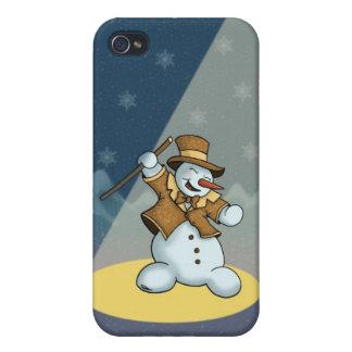speckcase del muñeco de nieve iPhone4 del baile iPhone 4 Funda