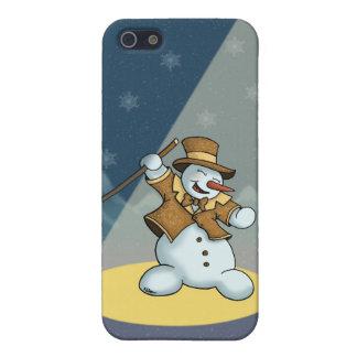 speckcase del muñeco de nieve iPhone4 del baile iPhone 5 Carcasas