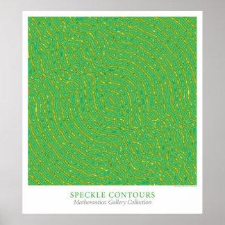 Speckle Contours Poster