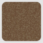 Speckled Brown Square Envelope Seals Stickers
