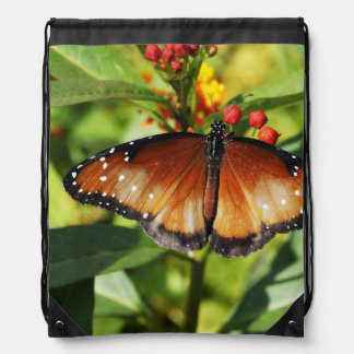 Speckled Butterfly Drawstring Backpack