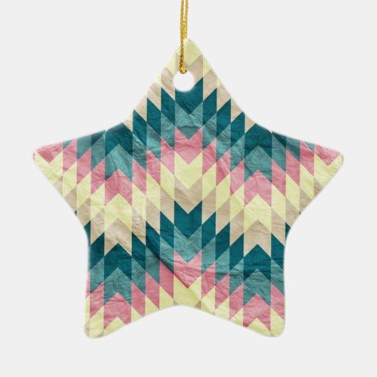 Speckled Chevron Ceramic Ornament