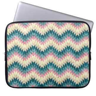 Speckled Chevron Laptop Computer Sleeves