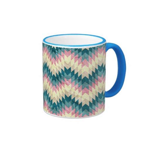 Speckled Chevron Coffee Mugs