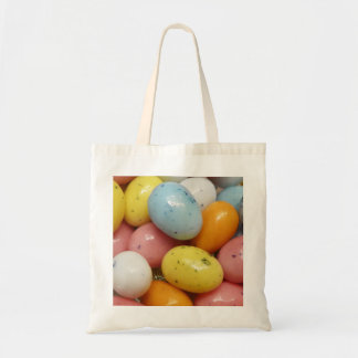 Speckled Colored Jelly Bean Easter Eggs Budget Tote Bag
