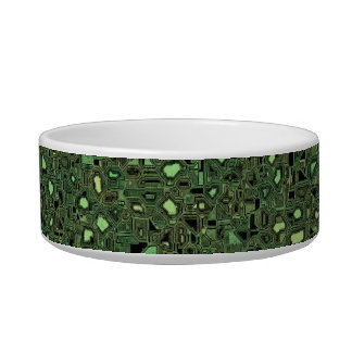 Speckled Computer Circuit Board Pattern Texture Bowl