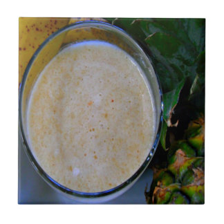 speckled cream banana pineapple smoothie tile