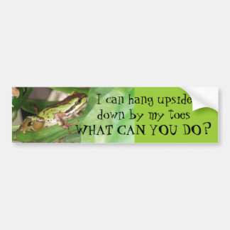 Speckled Frog in the Pepper Plant Bumper Sticker