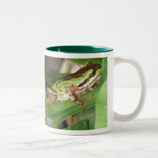 Speckled Frog in the Pepper Plant Two-Tone Coffee Mug