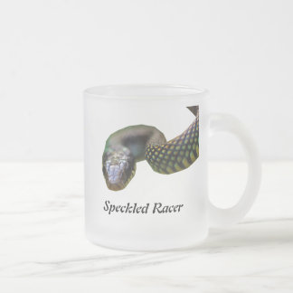 Speckled Racer 10 Oz Frosted Glass Coffee Mug