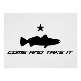 "Speckled Sea Trout ""Come and Take It"" Poster"