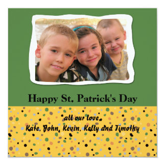 Speckled St. Patrick's Day Photo Card Personalized Invitation