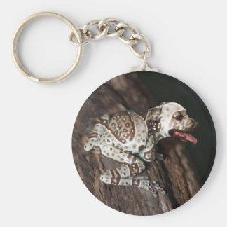 Speckled staffrog key chains
