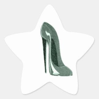 Speckled Stiletto Shoe Art Star Sticker