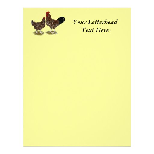 Speckled Sussex Chickens Letterhead