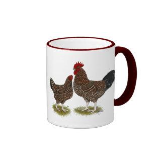 Speckled Sussex Chickens Ringer Mug