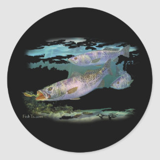 Speckled Trout Feeding Classic Round Sticker