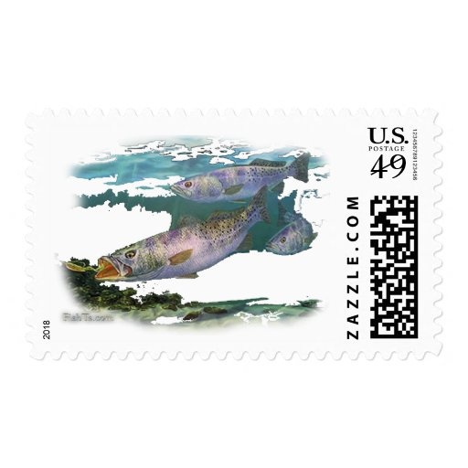 Speckled Trout Feeding Stamps