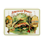 Speckled Trout Fly Fishing Rectangular Magnets